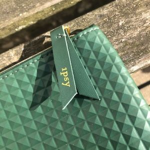 Army Green Ipsy Cosmetic Bag